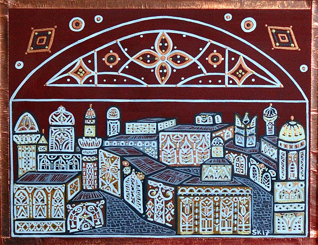 """Silvia Karamfilova Art """"A city in war"""""""