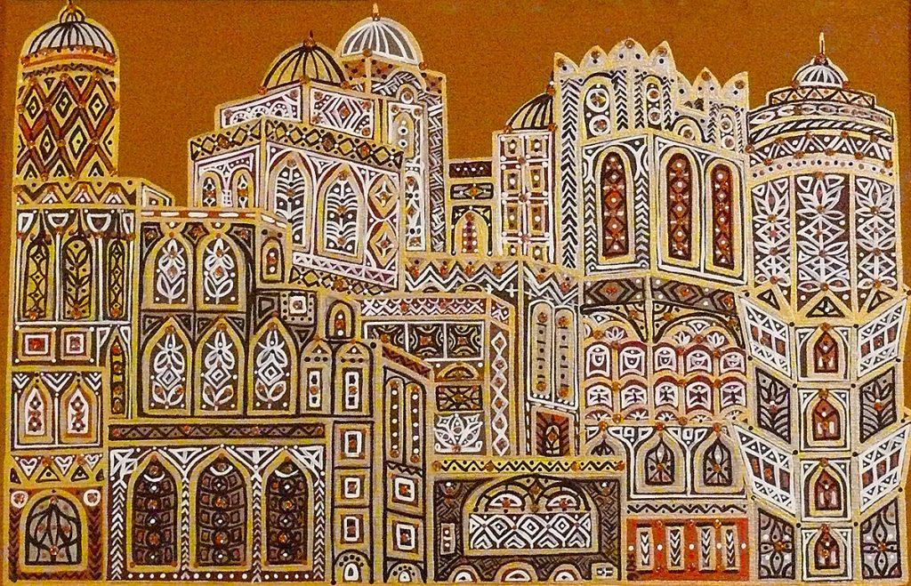 "Silvia Karamfilova Art ""Ancient skyscraper"""