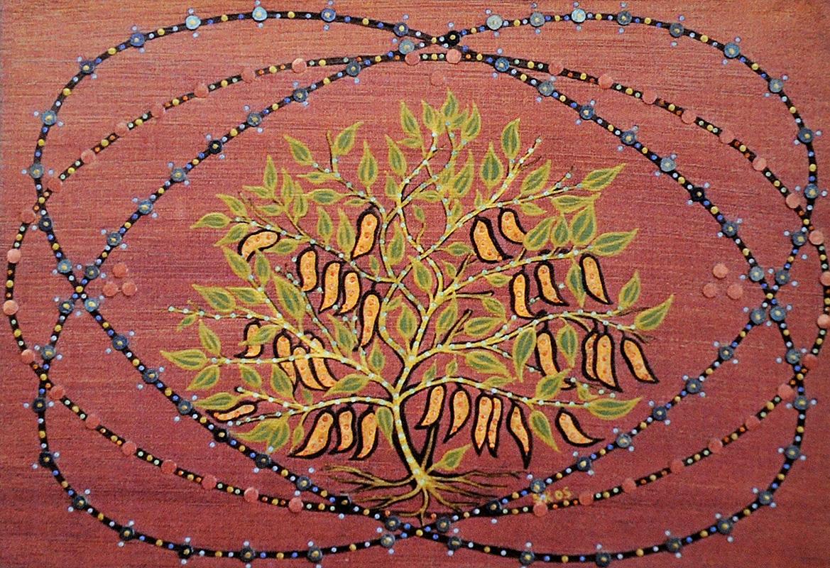 """Silvia Karamfilova Art """"Bean plant"""""""