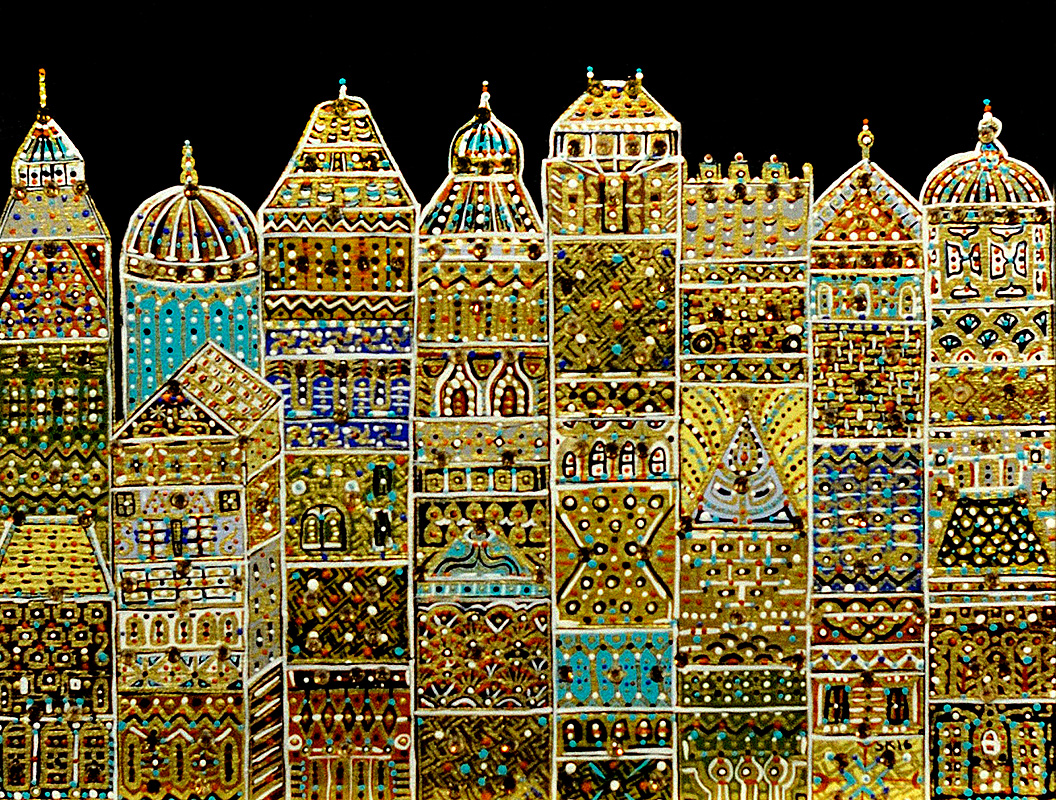 """Silvia Karamfilova Art """"City"""""""
