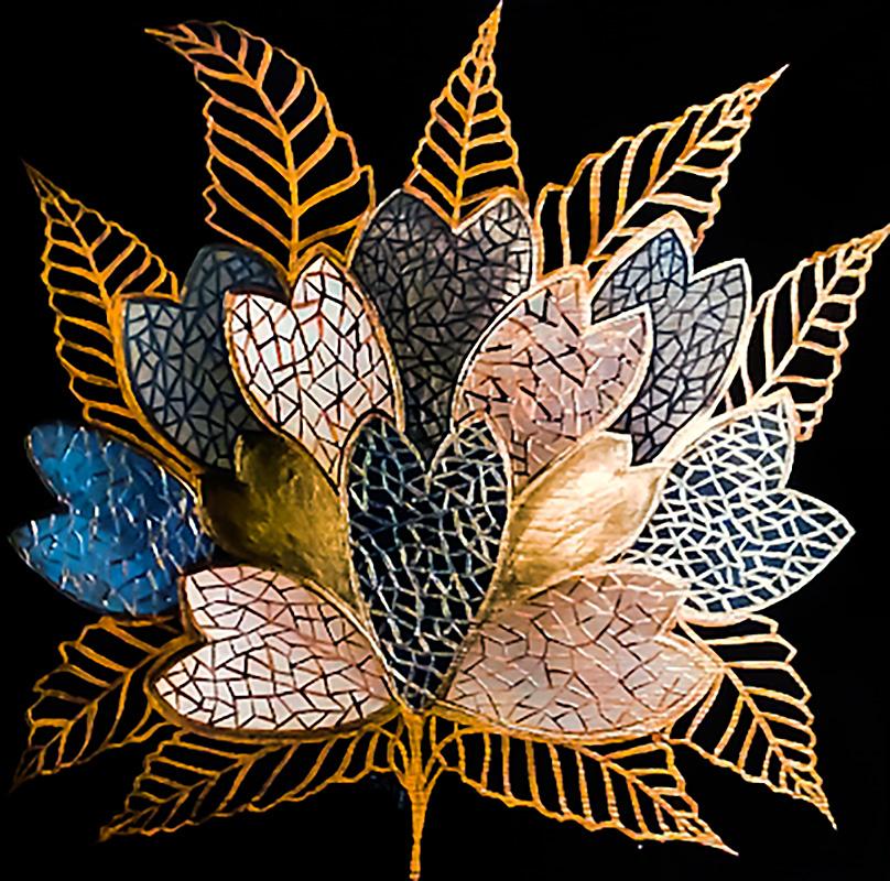 """Silvia Karamfilova Art """"Decorative branch 1"""""""