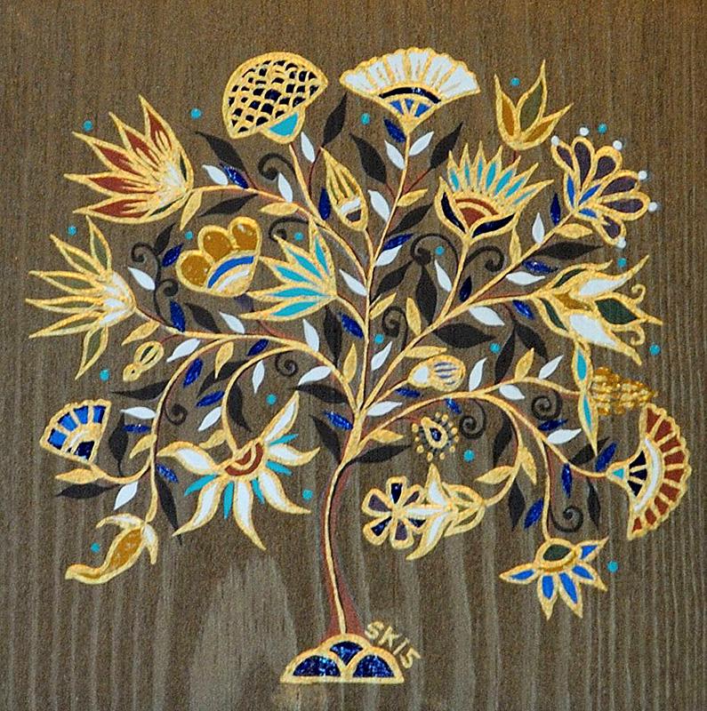"""Silvia Karamfilova Art """"Decorative branch"""""""