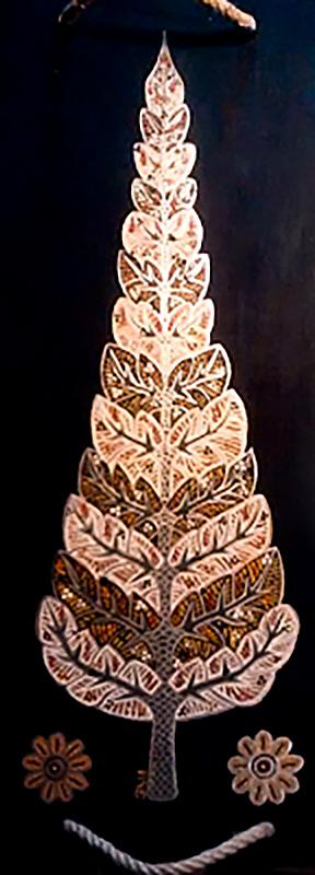 "Silvia Karamfilova Art ""Golden cypress tree"""