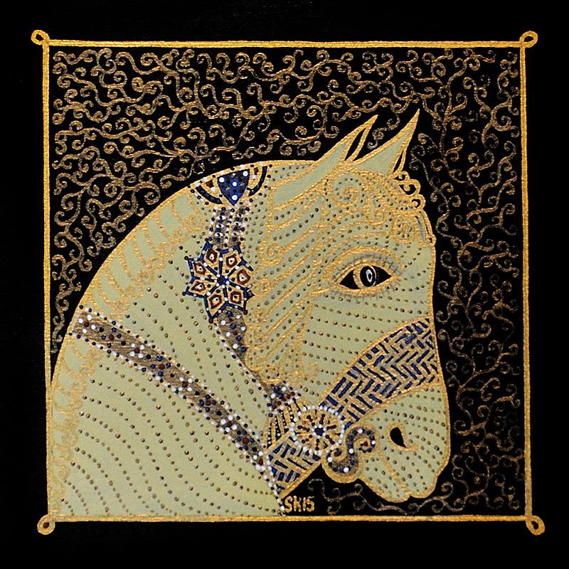 "Silvia Karamfilova Art ""Golden horses head"""