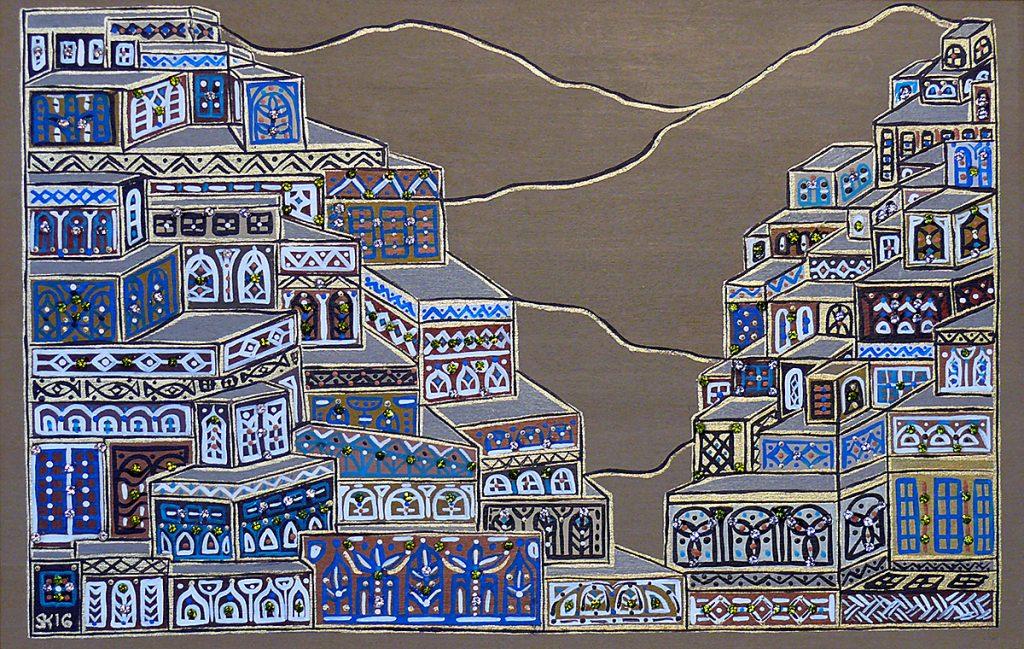 """Silvia Karamfilova Art """"Kurdish settlement II"""""""