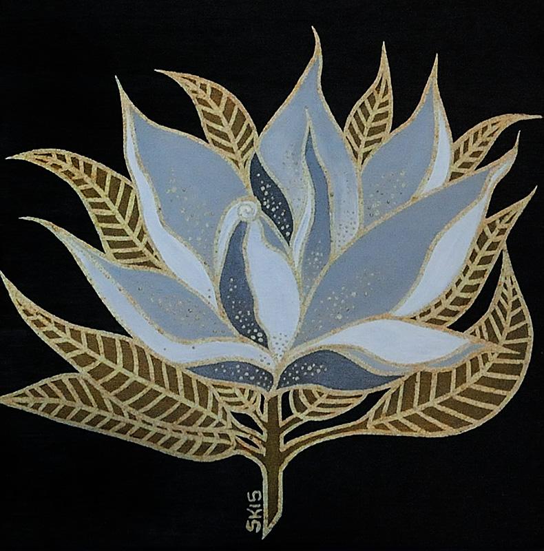 """Silvia Karamfilova Art """"Lotus leaf"""""""