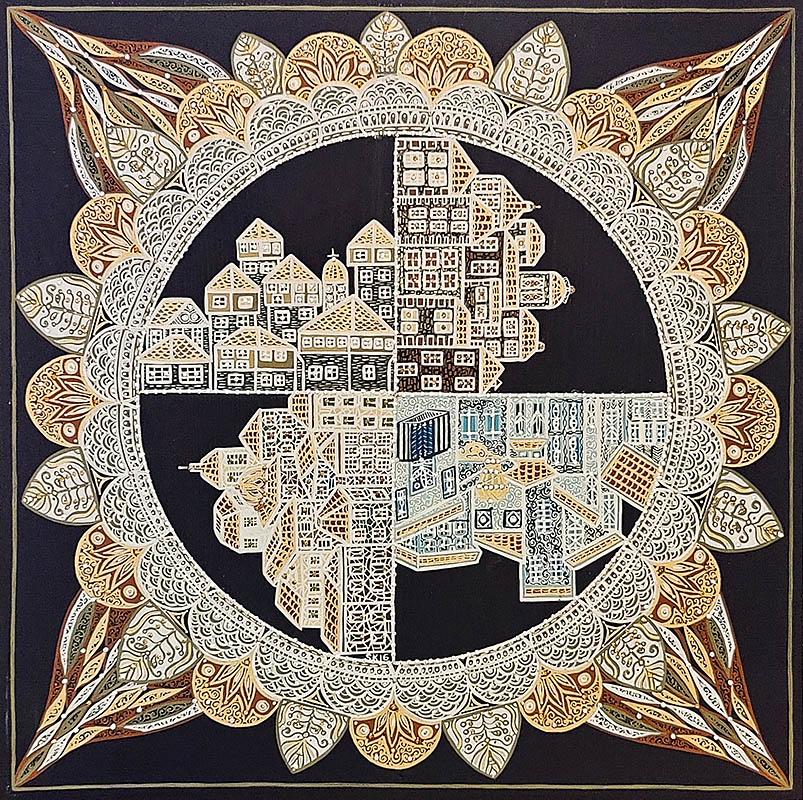 "Silvia Karamfilova Art ""Mandala city"""