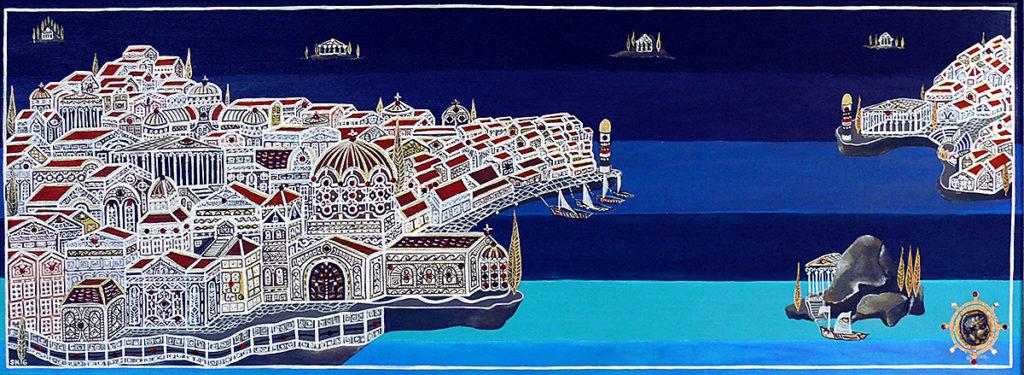 "Silvia Karamfilova Art ""Mediterranean city"""