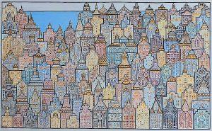 """Silvia Karamfilova Art """"Northern city"""""""