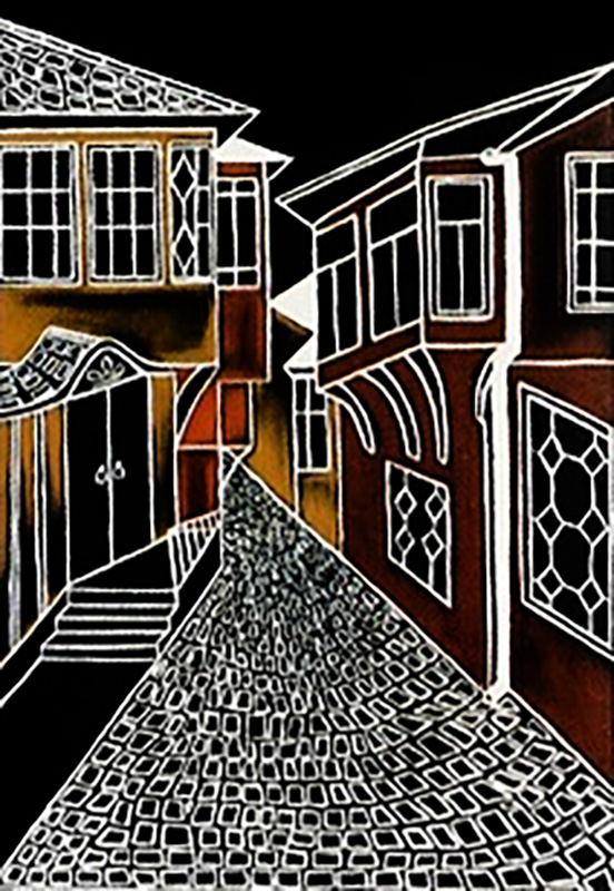 "Silvia Karamfilova Art ""Old houses plovdiv"""