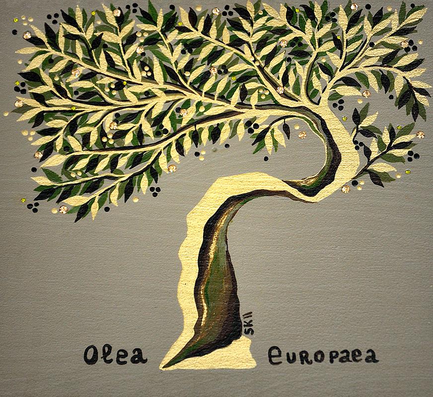 "Silvia Karamfilova Art ""Olive oil tree 2"""