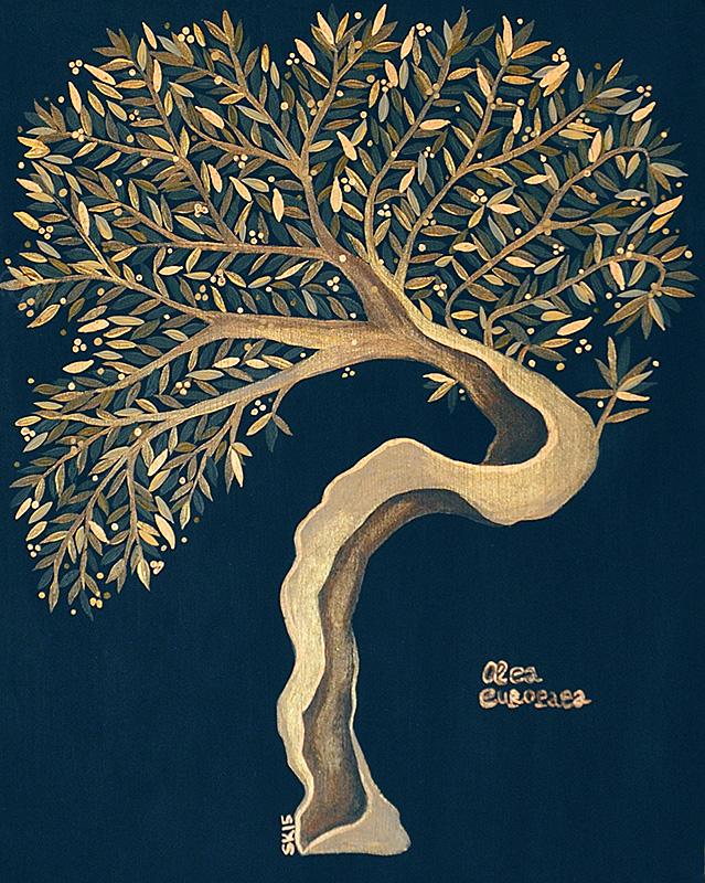 "Silvia Karamfilova Art ""Olive oil tree"""