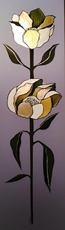 "Silvia Karamfilova Art ""Peony symbol of bravery and honor"""