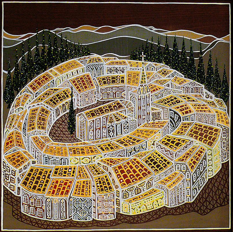 "Silvia Karamfilova Art ""Round city"""