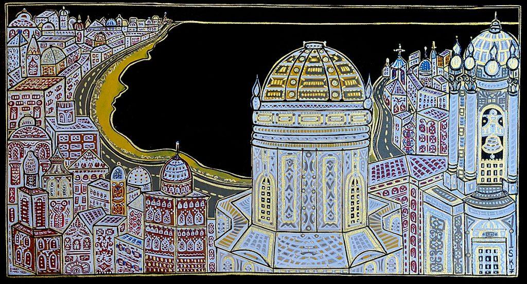 "Silvia Karamfilova Art ""Shining city II"""