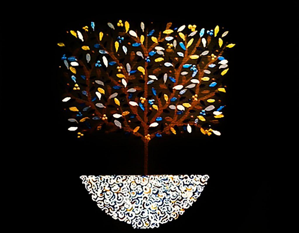 """Silvia Karamfilova Art """"Square tree"""""""