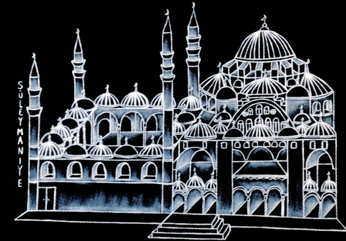 "Silvia Karamfilova Art ""Suleymanie mosque istanbul"""