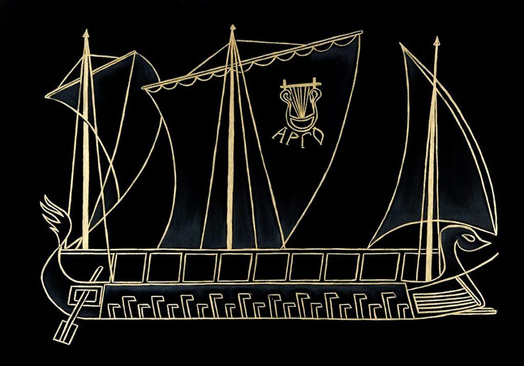 """Silvia Karamfilova Art """"The argo ship"""""""