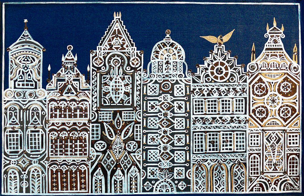"""Silvia Karamfilova Art """"The city of commerce"""""""
