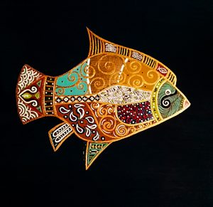 """Silvia Karamfilova Art """"The golden fish I"""""""