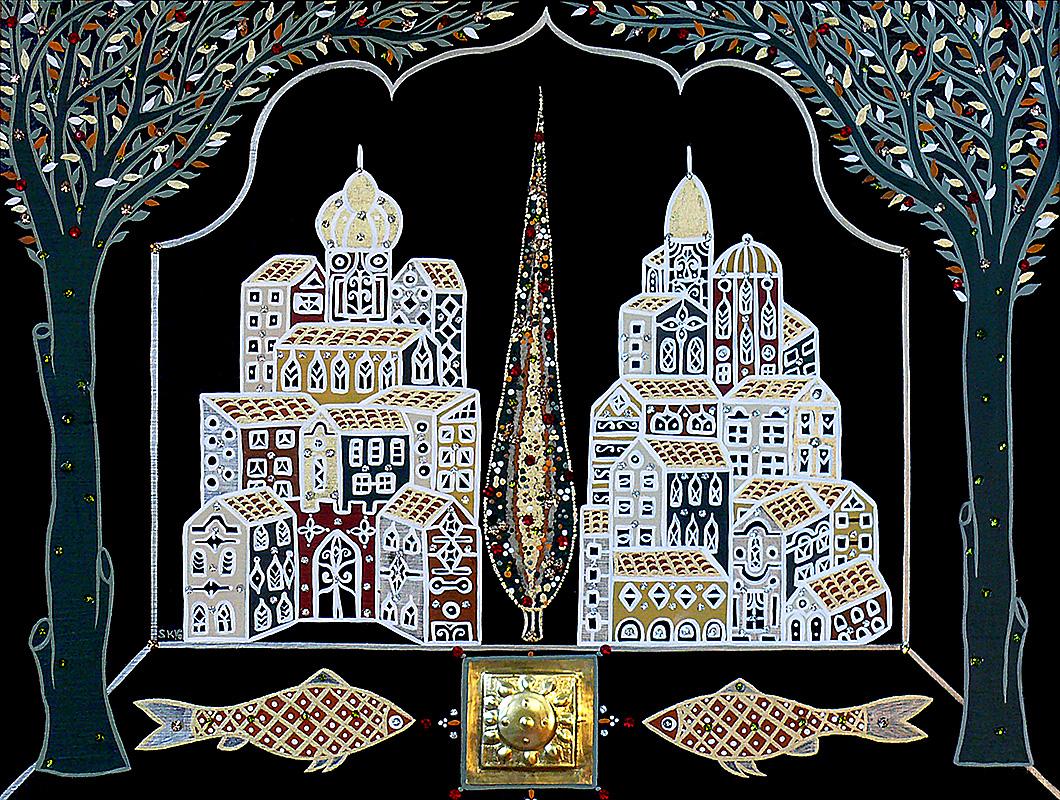 """Silvia Karamfilova Art """"The holy city"""""""