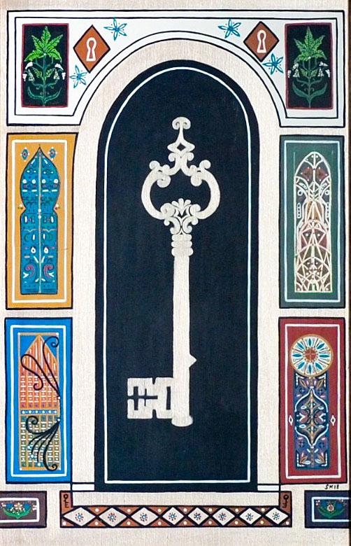 "Silvia Karamfilova painting ""The key which opens doors"""