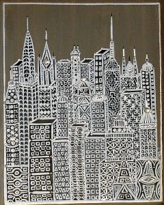 "Silvia Karamfilova Art ""The machine city I"""