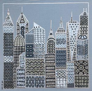 "Silvia Karamfilova Art ""The machine city II"""