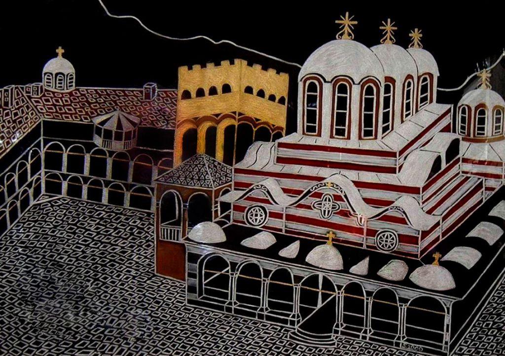 "Silvia Karamfilova Art ""The Rila monastery"""