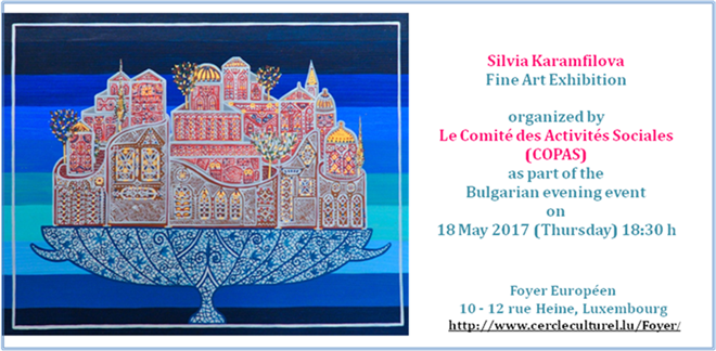 Silvia Karamfilova - Poster Fine Art Solo exhibition Luxembourg, 2017