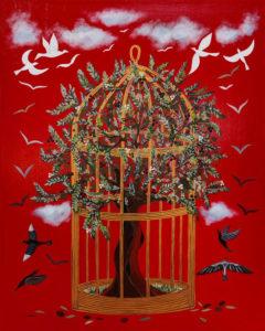 "Silvia Karamfilova, painting ""In spite of all odds"""