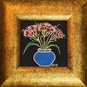 "Silvia Karamfilova painting ""Carnations"""