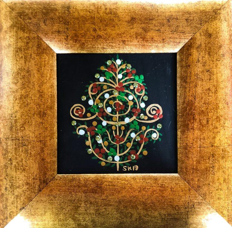 "Silvia Karamfilova Art ""Christmas Dogwood Branch"""