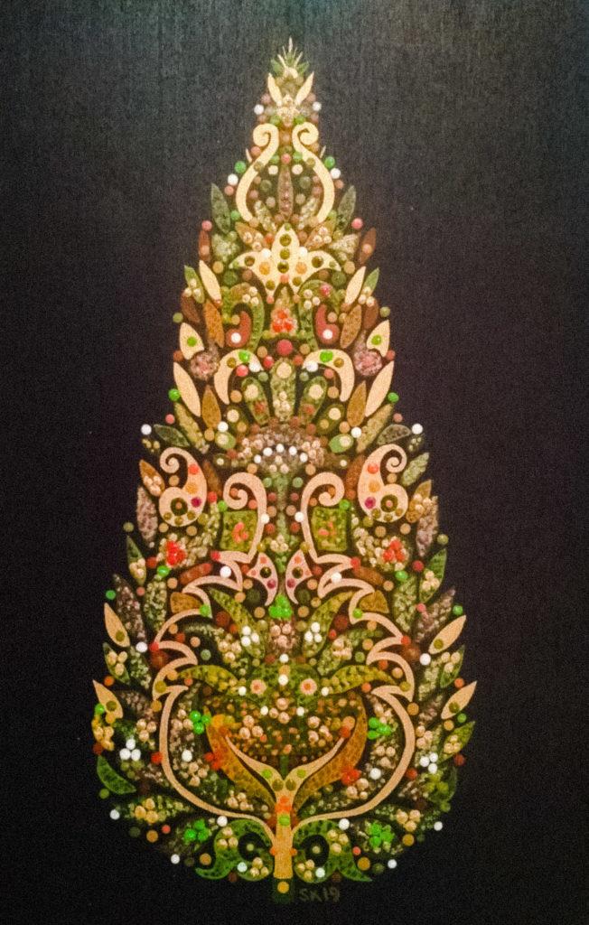 "Silvia Karamfilova Art ""Festive Cypress Tree"""