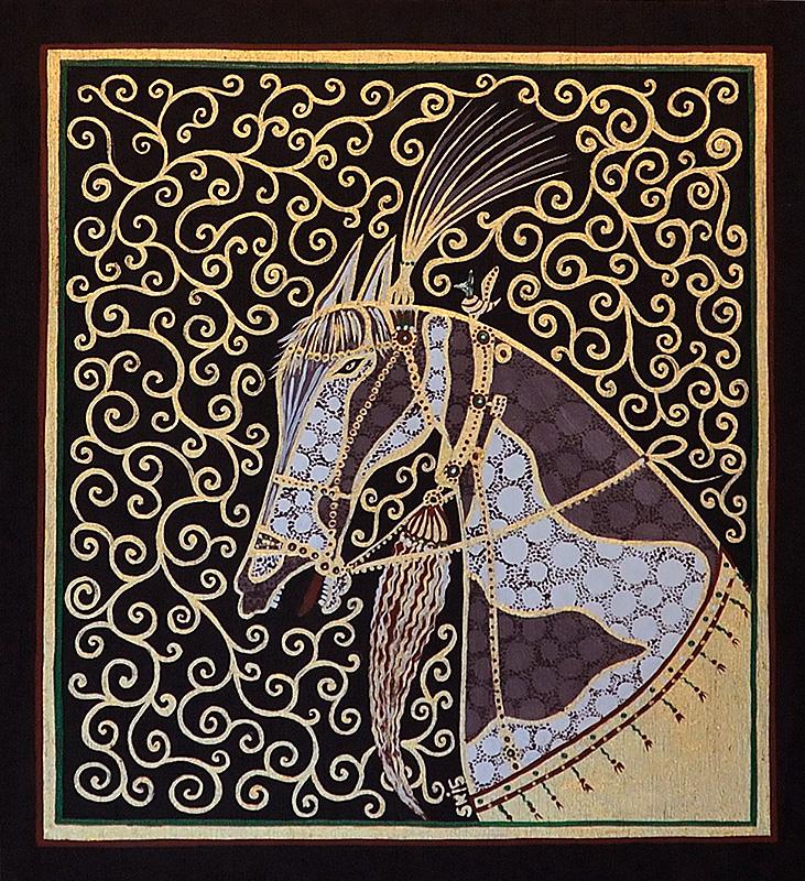"Art ""Horse with a feather adornment"" by Silvia Karamfilova"