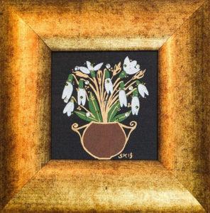 "Silvia Karamfilova painting ""Snowdrops 1"""