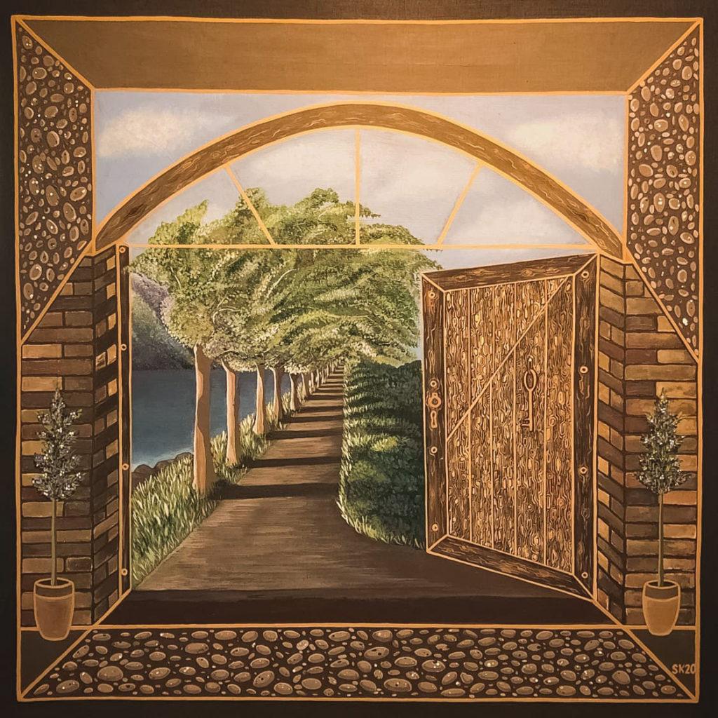 """Silvia Karamfilova Art """"The key to the enchanted garden"""""""