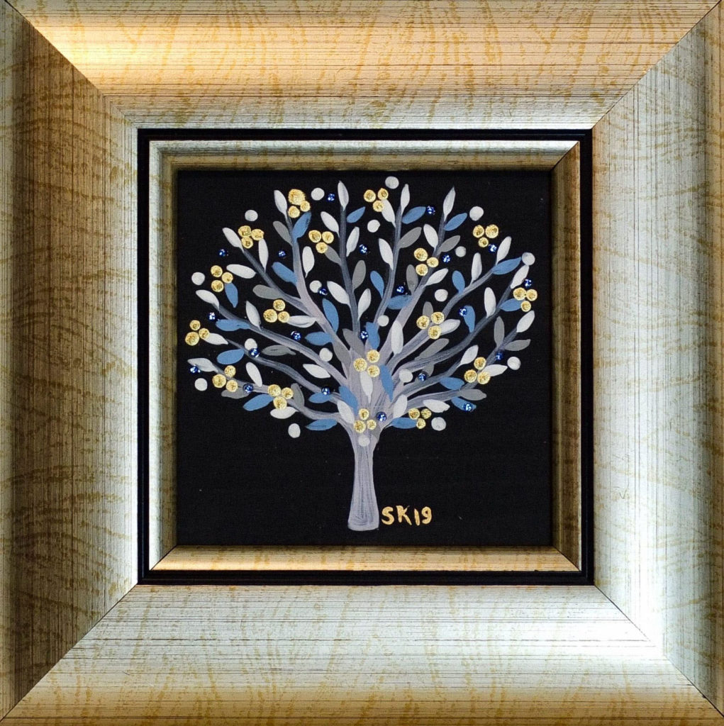 "Silvia Karamfilova painting ""Tree of life 11"""