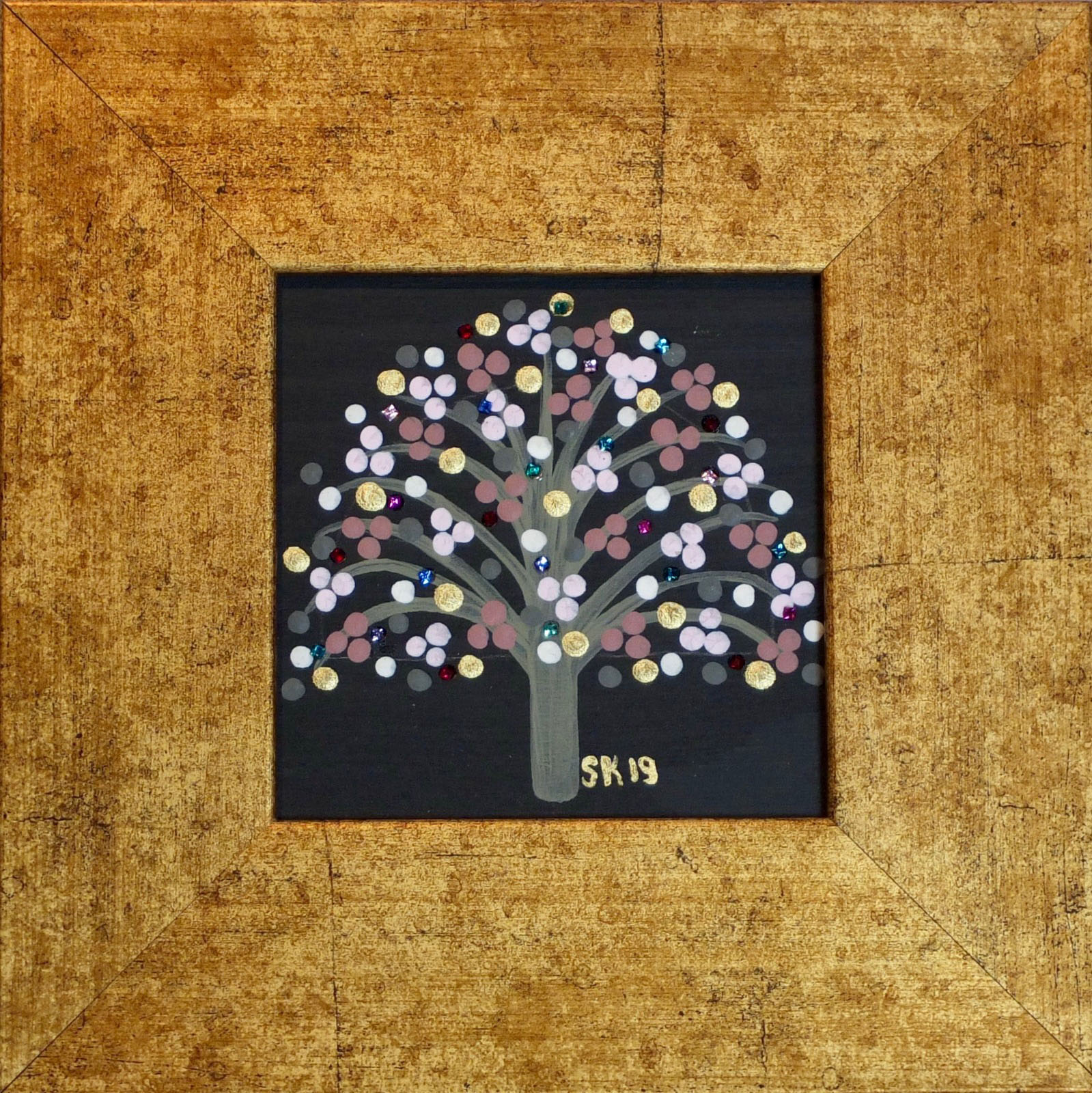 "Silvia Karamfilova painting ""Tree of life 14"""