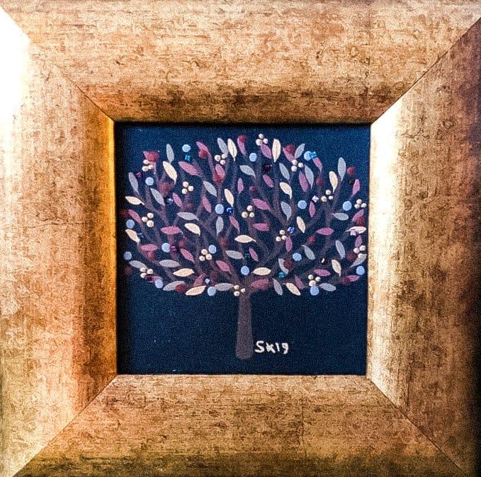 "Silvia Karamfilova painting ""Tree of life 17"""