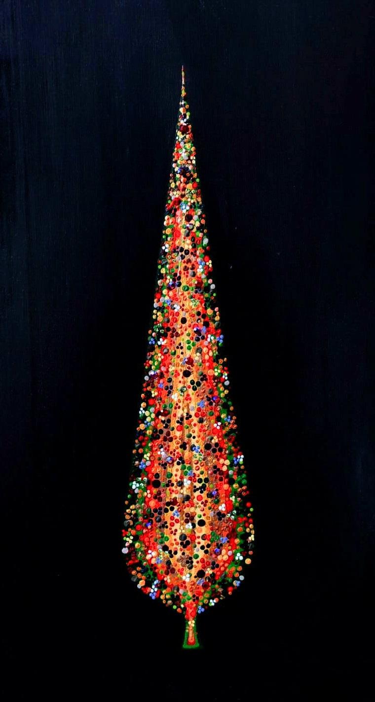 "Silvia Karamfilova painting ""Venetian Cypress Tree"""