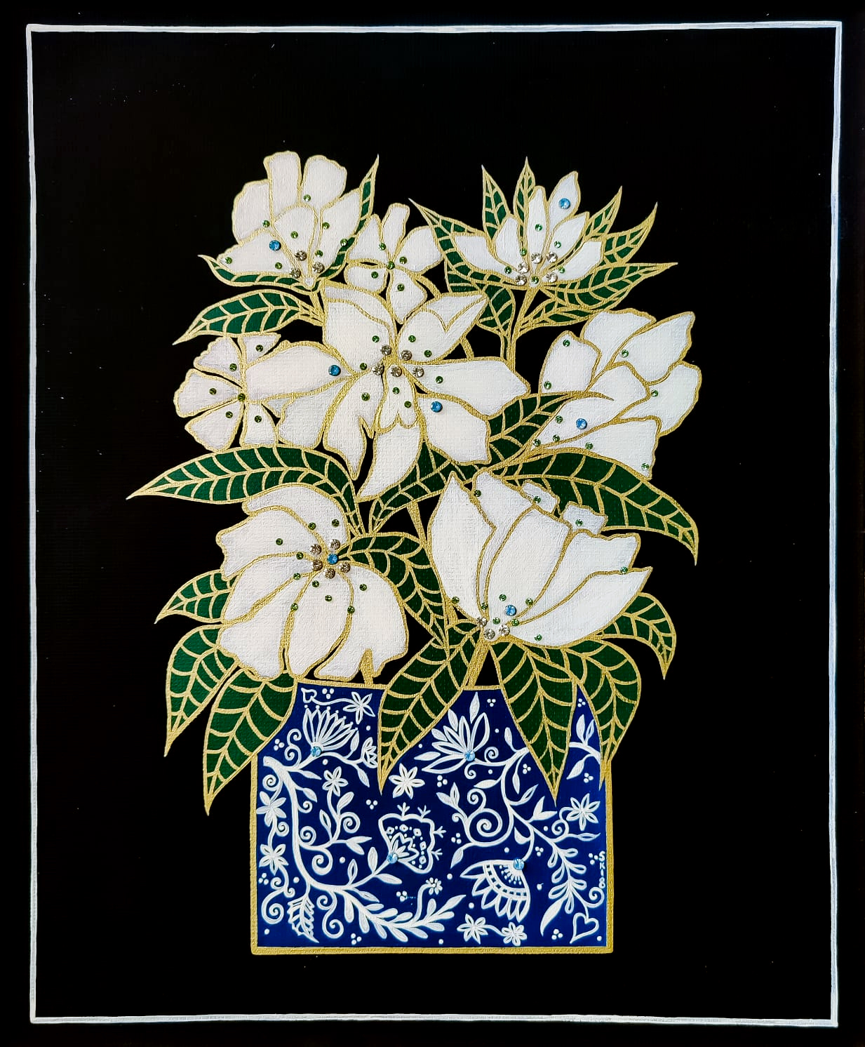"Silvia Karamfilova Art ""White Peony"""