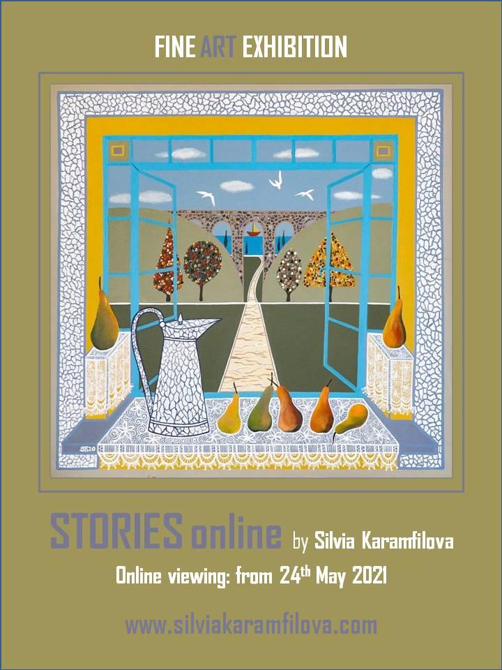 "Silvia Karamfilova - poster - Online Exhibition ""Stories"" 24th May 2021"