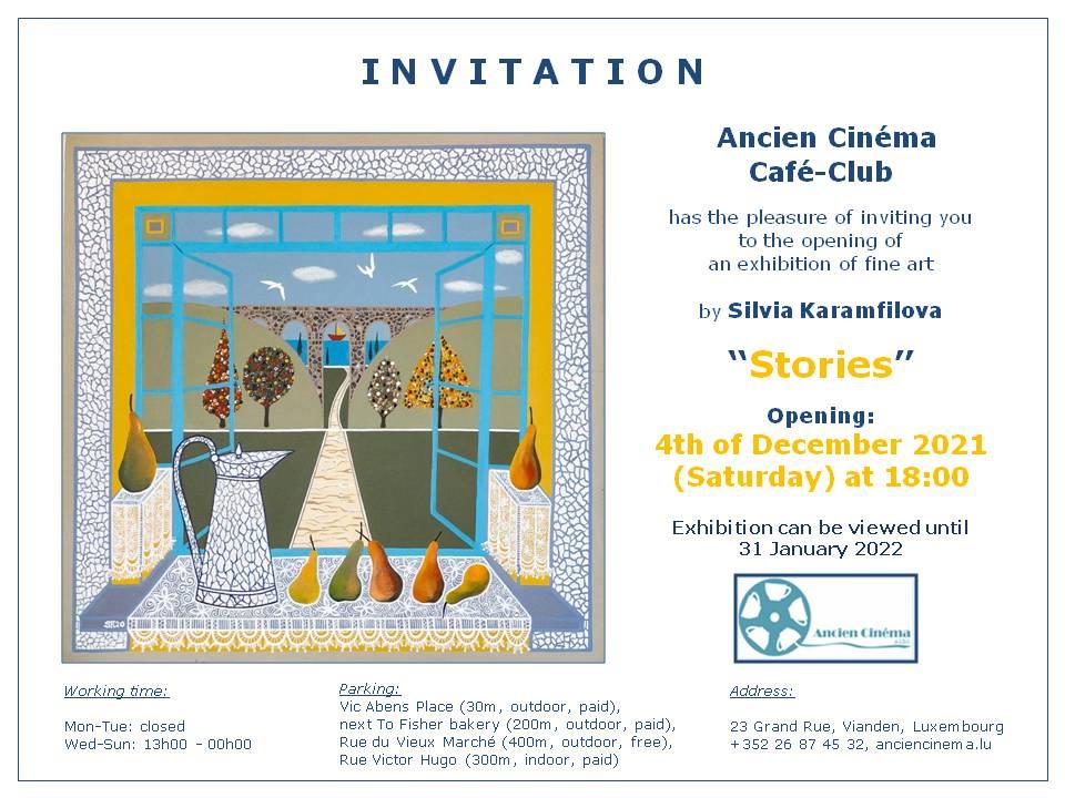 Silvia Karamfilova Invitation Exhibition December 2021