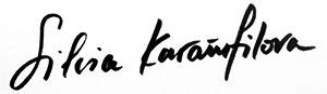 Sivlia Karamfilova - signature
